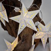 Max Pferdekaemper LED-Minilichterkette, weiße Papiersterne