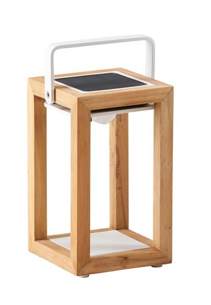 Best-Light Solarleuchte 28 cm, Teak/weiß