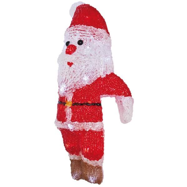 Max Pferdekaemper LED-Zaunfigur, Weihnachtsmann, weiße LEDs
