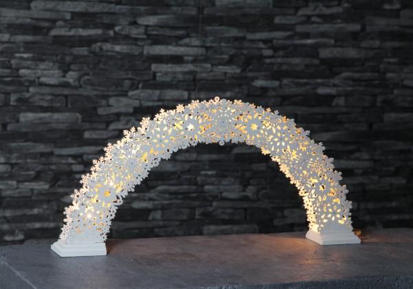 Best Season LED-Fensterleuchter Snowflake Bow