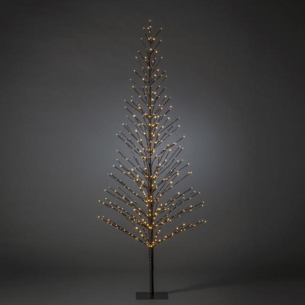 Konstsmide LED Lichterbaum, schwarz, Höhe ca. 210 cm