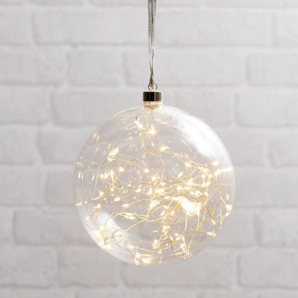 Best Season LED-Glaskugel GLOW, transparent, Ø 10 cm