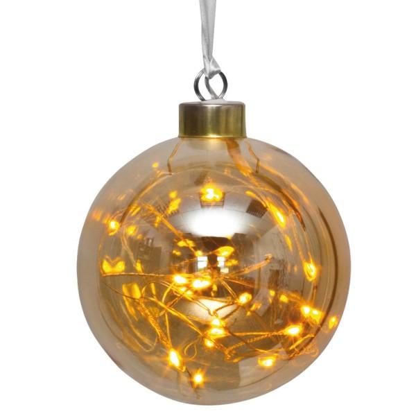 Best Season LED-Glaskugel GLOW, amberfarben