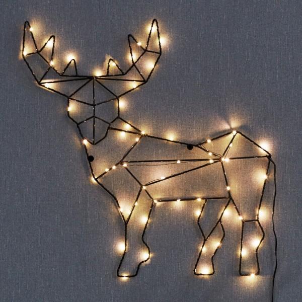 Best Season LED-Rentier CUPID, 59 warmweiße LEDs