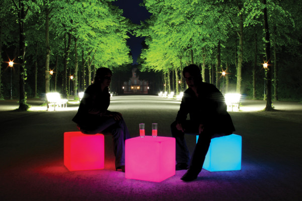 Leuchtmöbel Cube LED Accu Outdoor