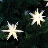 Max Pferdekaemper LED-Dekolichterkette, 9 Sterne, Ø 12 cm