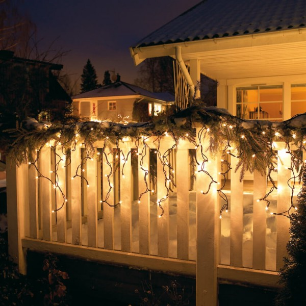 Max Pferdekaemper LED-Minilichtervorhang, warmweiße LEDs