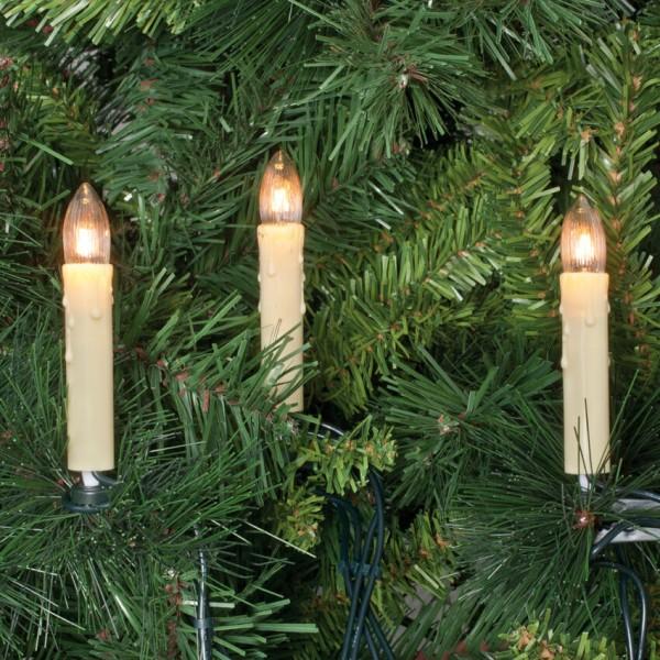 hellum Weihnachtsbaumkette, klar/weiß