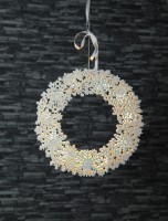 Best Season LED-Fensterkranz Snowflake Wreath