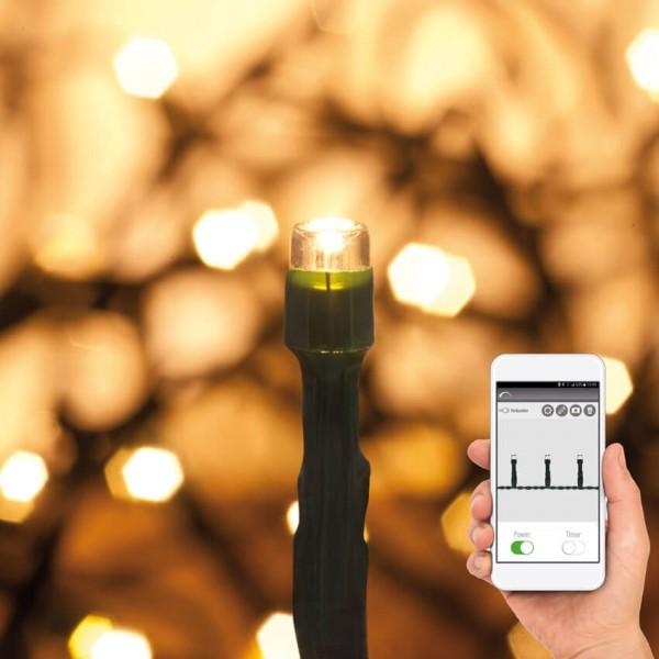 Max Pferdekaemper LED-Minilichterketten mit App-Control, warmweiße LEDs