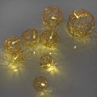 Max Pferdekaemper LED-Minilichterkette, Drahtbälle, 8 LEDs