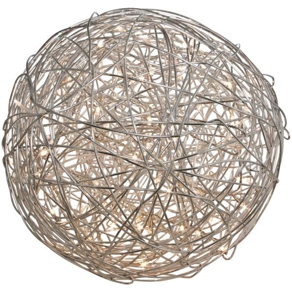 LED Dekoleuchte Drahtball TRASSEL, silber, Ø 50 cm