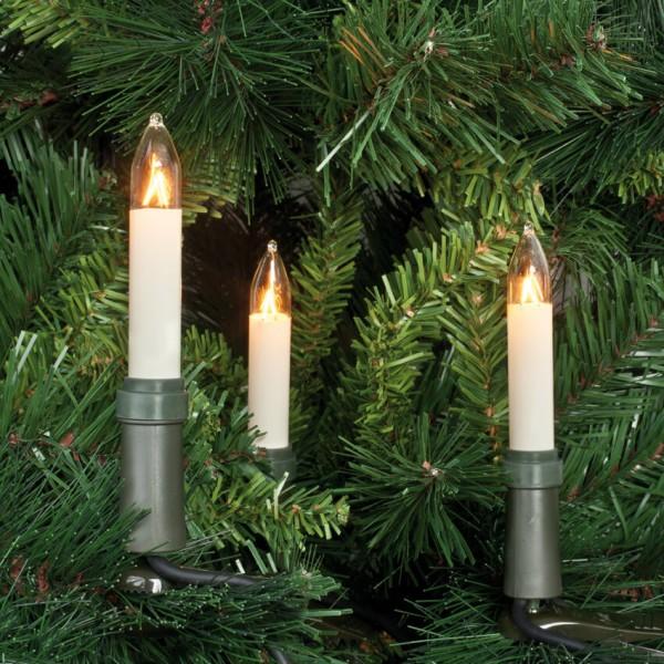 Rotpfeil Weihnachtsbaumkette, klar/elfenbein, 15-flammig
