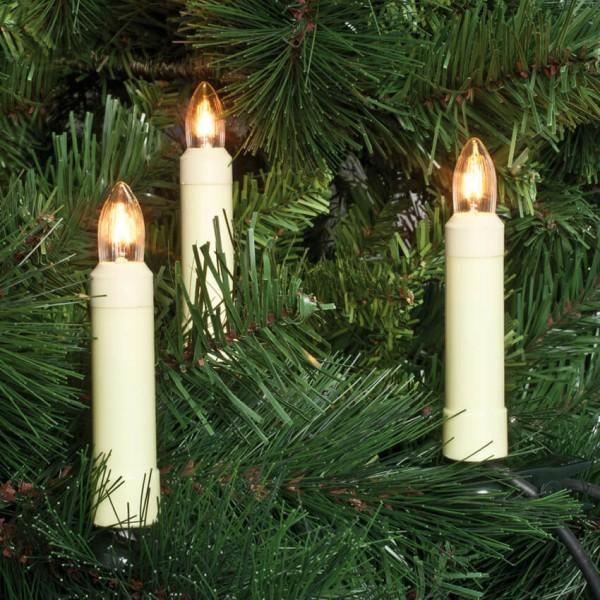 Rotpfeil Weihnachtsbaumkette, klar/elfenbein, 30-flammig