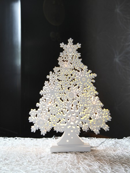 Best Season LED-Fensterleuchter Snowflake Tree