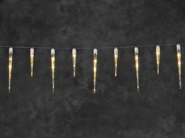 LED Eiszapfen Lichtervorhang mit 32 Zapfen - 1775 cm