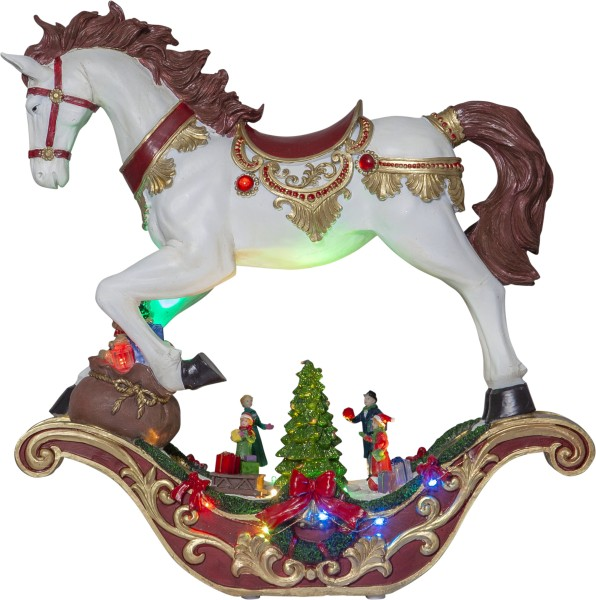 Best Season LED-Weihnachtszene SWING Schaukelpferd