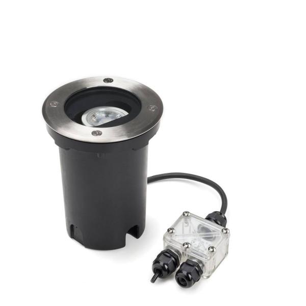 Bodeneinbaustrahler GU10 - verstellbarer Lichtaustritt