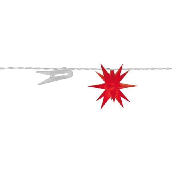 Sterntaler LED Dekolichterkette Sterne, rot, Ø 8 cm